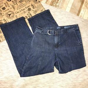J. Jill Metropolitan Wide Leg Jeans Dark Wash 8